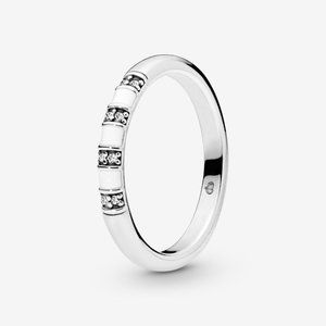 Pandora White Stripes Ring